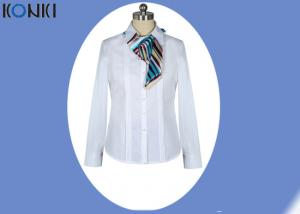 China White Shirt Skirt Corporate Office Uniform For Women Office Clothing on sale