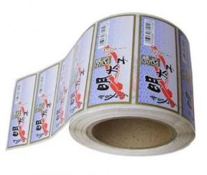 China Die Cut White PVC Self Adhesive Labels With Pantone Color Eco Friendly on sale