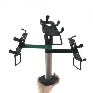 China Multi Purpose POS Terminal Stand ABS Pole Metal Material With 2 / 3 Arms on sale