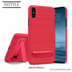 China Colorful 2 in 1 PC Hard Type Mobile Phone Case Cover with Stand for Samsung and All iPhone on sale