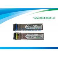 Gigabit Ethernet SFP Optical Transceiver / Fiber Optic Transceiver 1.25G Bi-Di 3km LC Connector