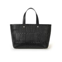 Wow Nice Black Weave Tote Bag Emboss Knitting Pattern on Pu Succinct Italy Design Shoulder Handbag for Women Laptop Bags
