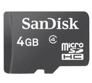 China SanDisk microSD card,  TF 4GB class4,mobile phone memory card on sale