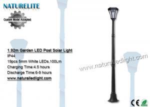 China IP44 Solar Led Lights ,  LED Post Garden Light 100LM 19 Pcs on sale