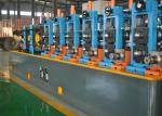 ERW tube mill line with straight seam high frequency welding