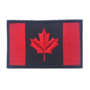 China Black Iron On Velcro Canada Flag Patches Woven Embroidery Custom Team Patches on sale