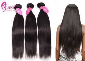 China Virgin Indian Real Human Natural Straight Remy Hair Weave Extensions on sale