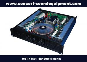 China Pub , Church , School Conference Sound Equipment Class AB 4 X 450W Analogue Amplifier supplier