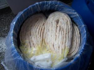 China Tubed Hog Casing, Salted Hog Casing, Natural Sausage Casing on sale