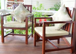 China Customized Garden / Balcony Wooden Lounge Chair Solid Wood Outdoor Furniture on sale