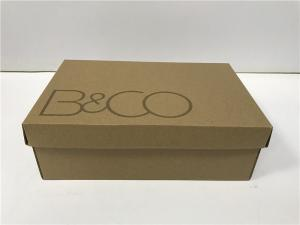 China Plain Packing Boxes With Lid For Men / Women ' S Shoes ISO Certification on sale