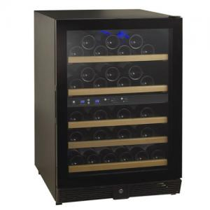China 54 Bottles Compressor Wine Cooler (Fridges), Two-Temp. Zone, Full Glass Door with Recessed Handle on sale