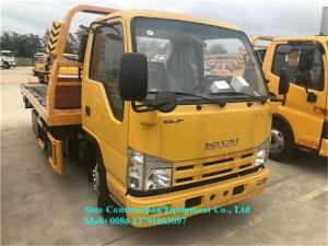 China 4x2 Special Purpose Truck One Pull Two Car Flatbed Road Wrecker Tow Truck on sale