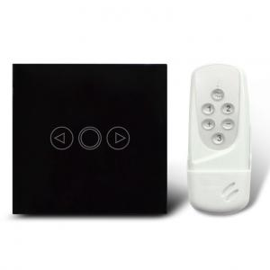 China Dimmer light switch in black in EU standard with round base on sale
