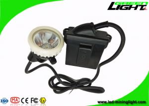 China PC Body Led Miners Cap Lamp Headlight 10000lux Rechargeable Flame Resisitant supplier