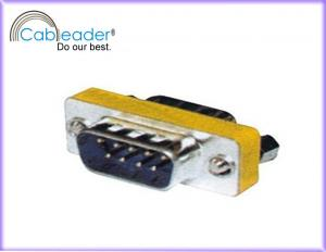China Cableader 9 Pin Mini VGA Gender Changer DB9M - DB9M with steel shell on sale