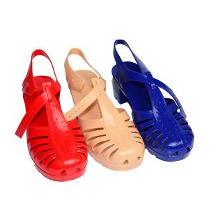 China Wedge Heel Jelly Sandal on sale