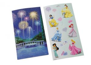 China 8in * 7in Lovely princess mini poster Self Adhesive Sticker on sale
