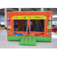 Lovely crayon inflatable bouncy combo for sale commercial inflatable crayon jumping house with sport games