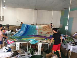 China Fabric Large Printing Format , Textile Large Format Display Printing 310cm Wide on sale
