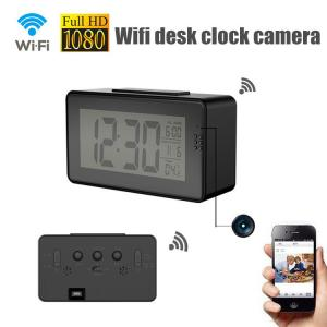 China 1080P full hd mobile phone monitor montion detection wifi hidden desk clock spy camera on sale