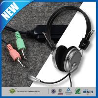 China Computer PC Stereo Headphone or Earphone Bravo 3.5mm Mic Microphone on sale