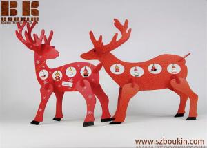 China wooden christmas decoration Desktop Decoration Christmas Creative Gifts Wooden deer ornament on sale