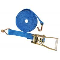 China Lashing Belt Ratchet Tie Down Straps With Hooks Wear Resistant Blue Color on sale