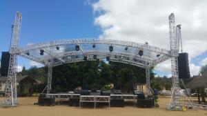 China Highly Used Oudoor Event Aluminum Stage Lighting Truss With Canopy on sale