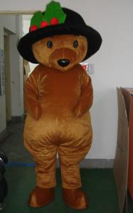 Quality Good ventilation Cartoon Character Brown bear animal mascot costumes for adults for sale