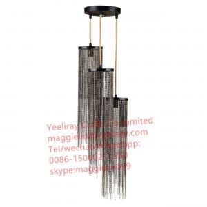 China YL-L1029 European Contemporary Hanging Pendant Lighting Lamps / Modern antique black Iron Chain Chandelier on sale
