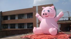 China Inflatable advertising cartoon / inflatable advertising pig / inflatable promotion on sale