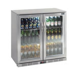 China 330L outdoor Stainless Steel Back Bar Cooler 2 swing glass doors (Sliding doors available too) on sale