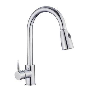 China Bathroom Brushed Nickel Kitchen Sink Faucet Pull Out Mixer Taps Wet Sink Bar Faucets on sale