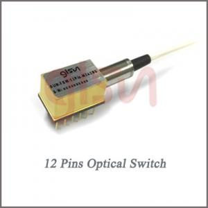 China SM Latching Non-latching 12 Pins Mini single-ended Fiber Optic Switch for Metropolitan Area Network on sale