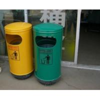 Outdoor Stainless Steel Single Dustbin  ,trash cans Can be customized with logo