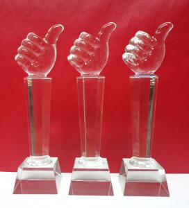 China crystal item trophy award souvenirs for golf player brazil world cup 2014 on sale