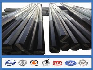 China Black Tar Painted Hot Dip Galvanized Steel Pole Coating Octagonal Pole on sale