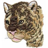 China Embroidery digitizers Jefferson Staff tiger head WDK10301 on sale