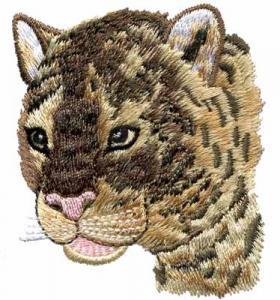 China Embroidery digitizers Jefferson Staff tiger head WDK10301 on sale