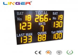 China High Brightness Electronic Cricket Scoreboard , Water Proof Cricket Digital Scoreboard on sale