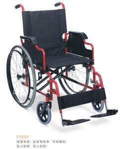 China 83*28*95 cm Powder coating steel Foldable Wheelchair for old people or disabled people on sale