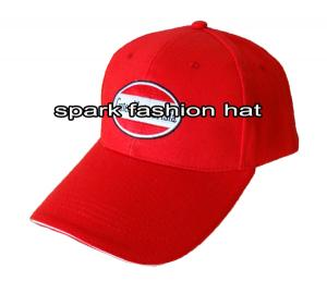 Quality High quality red baseball cap with plain embroidery logo for sale