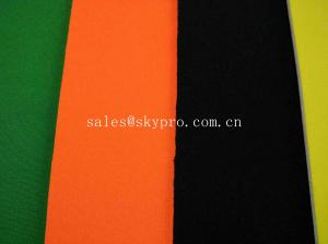 China Colorful 3mm Thick Thick Neoprene Fabric , SBR SCR CR Neoprene Airprene Fabric on sale