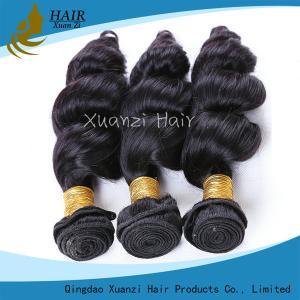 Quality 長続きがするマレーシアのバージンの毛延長は波の100%のバージンの毛を緩めます for sale
