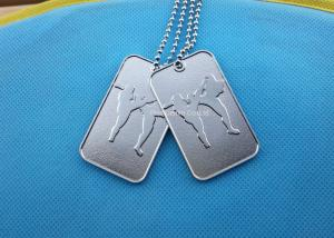 China Printing Business Promotional Soft Enamel Army Dog Tags Stainless Steel Material on sale