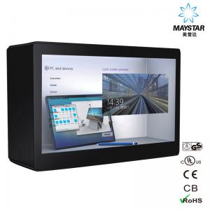 China Reliable Transparent Digital Signage LCD Display Black Color 15~84 Panel Size on sale