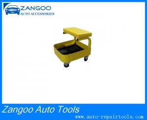 China Workshop Adjustable Durable Rolling Garage Seat With Cup Support on sale