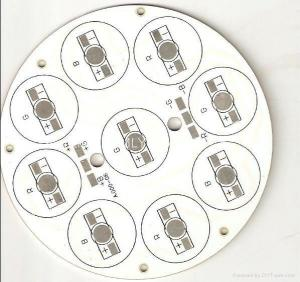 China Led Aluminium PCB Board With One Layer Thickness 1.6mm 40W Power 108mm Dia Apply on sale
