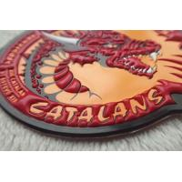 Custom Colorful PVC Patches  ,  Embossed  And Screen Printing Garments Logo